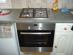 New cooker and hob installation