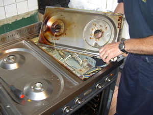 Replacing a Spark Plug to a Britannia Cooker